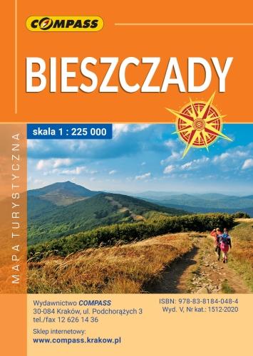 Solina Polanczyk Bieszczady Mapa Laminowana Compass