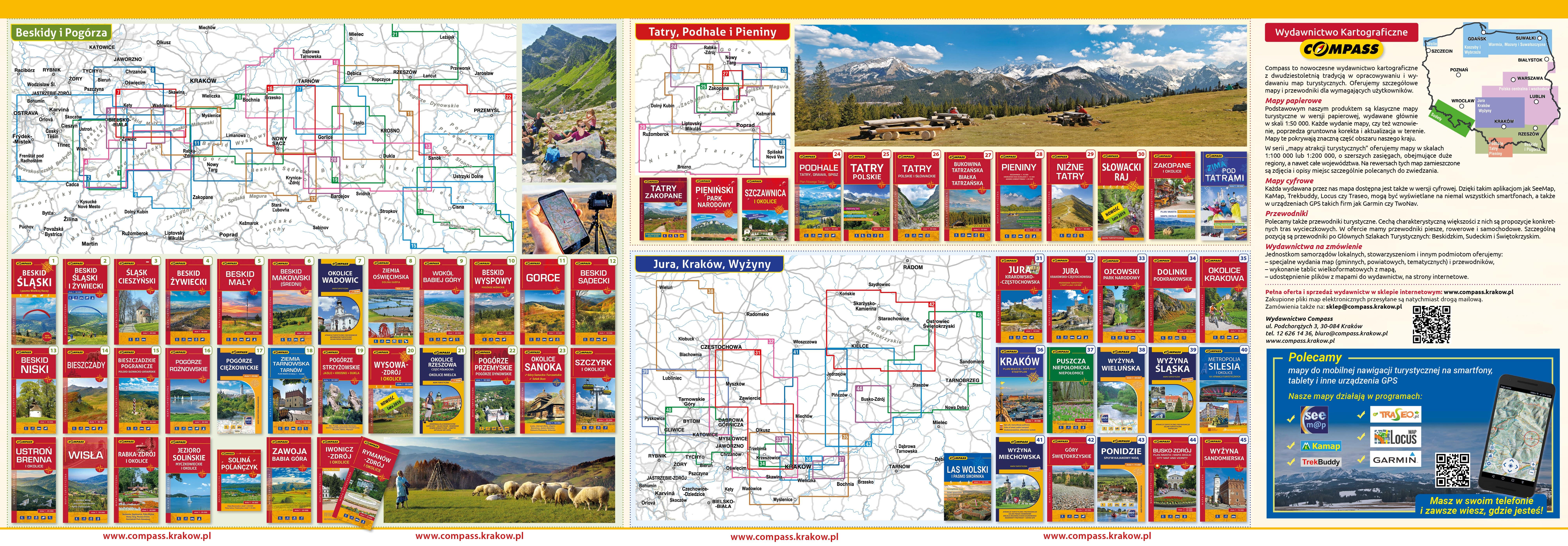 Compass Wydawnictwo Turystyczne - mapy, przewodniki, mapy