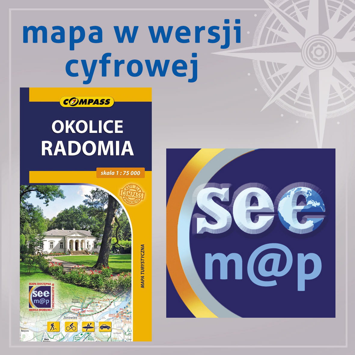 Okolice Radomia Seemap Compass